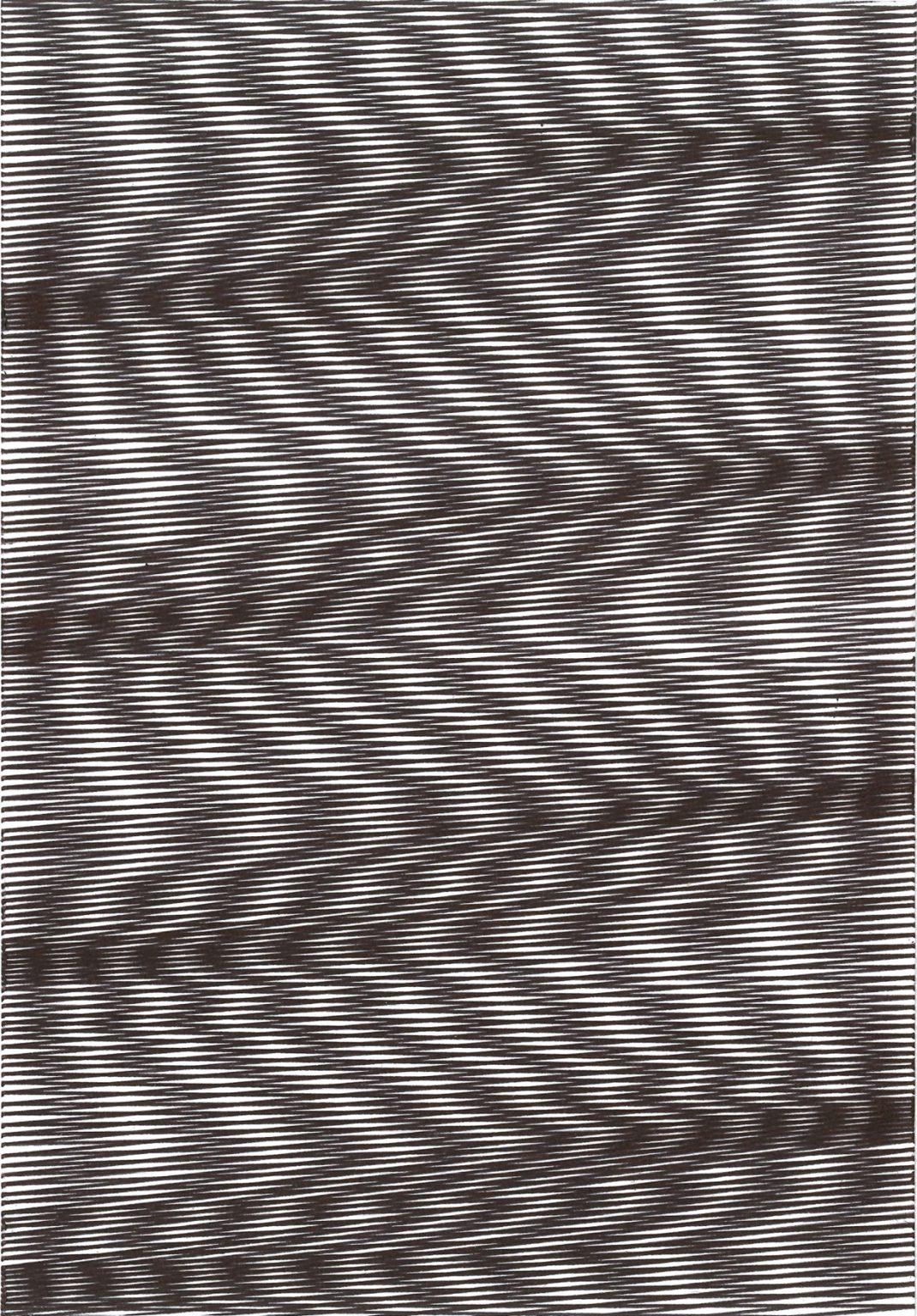 Caroline Kryzecki,KSZ 21/15–04,Kugelschreiber auf Papier, 21 x 15 cm, 2016