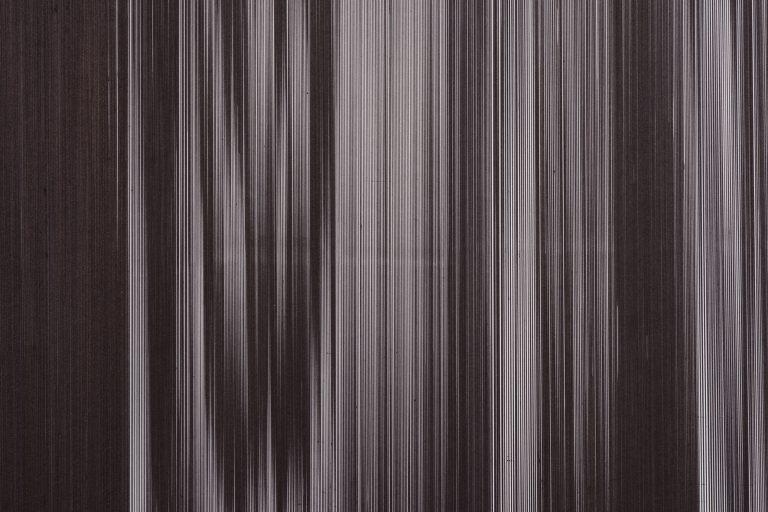 Detail: Caroline Kryzecki, KSZ 270/190–03, Kugelschreiber auf Papier, 270 x 190 cm, 2018. Foto: Marcus Schneider