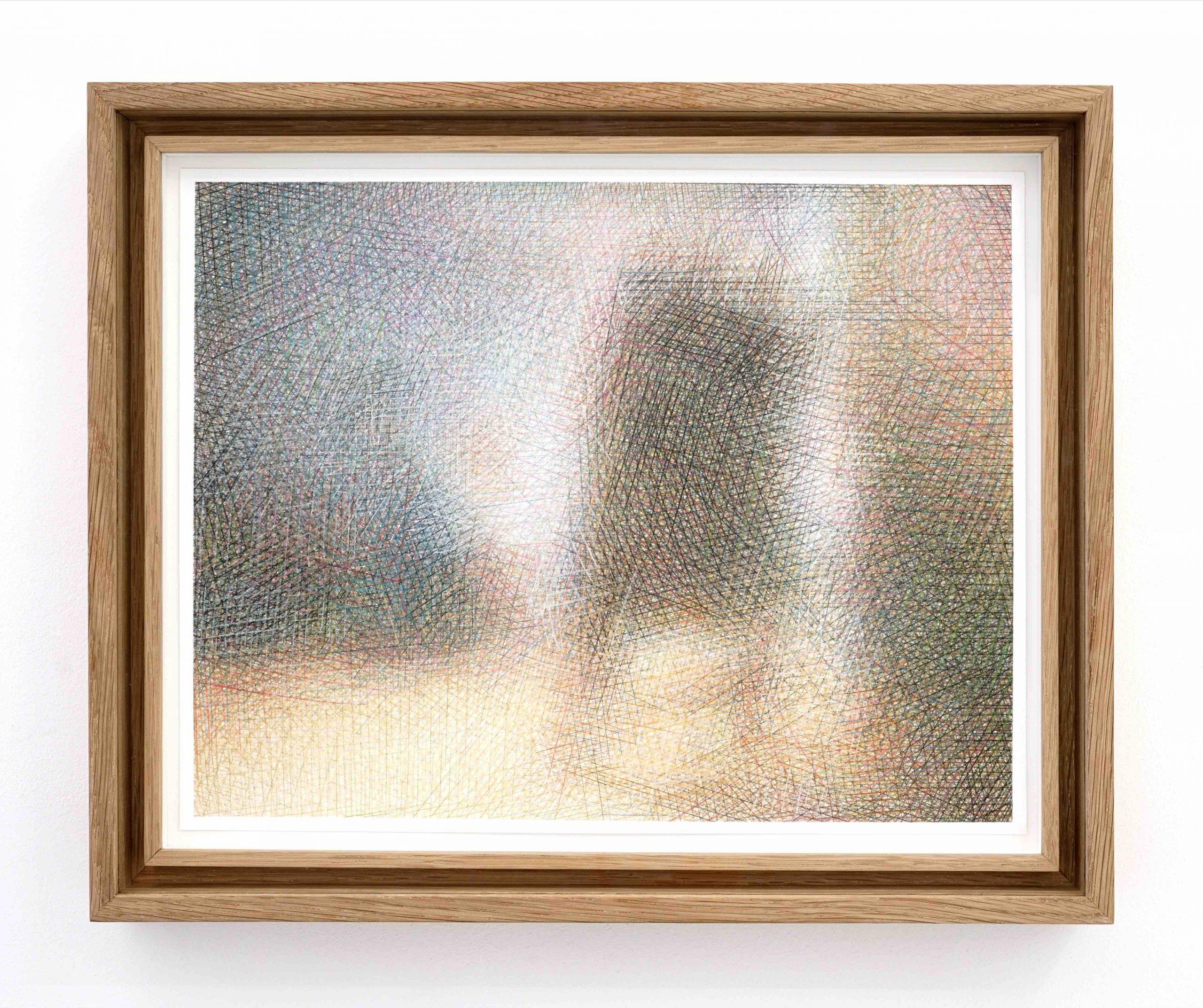 Sławomir Elsner, Artist in his Studio, Farbstift auf Papier, 24,8 x 31,7 cm, 2020 (nach Rembrandt, Museum of Fine Arts, Boston), courtesy Lullin+Ferrari Zurich